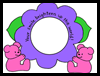 Bear Flower Frame Craft for Kids