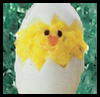 Devilled Easter Egg Chicks Craft for Kids