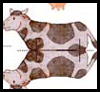 Cow Toy Printable Paper Craft