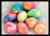Oil and Food Coloring Marbled Eggs Craft