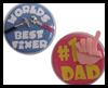 Buttons for Dad on Father's Day
