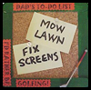 Golfing Dad's Memo Board Gift Craft
