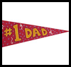 #1 Dad Pennant Craft for Dad
