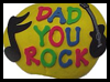 """Dad You Rock"" Paperweight Gift for Father's Day"