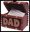 Treasure Box Business Card Holder for Dad