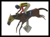 Race Horses Printable Paper Models