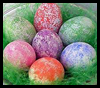 Easy Sponge Painted Eggs Easter Craft Activity for Kids