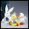 Easter Critters Napkin Rings Craft Activity