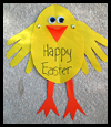 Easter Chick Card Craft for Kids