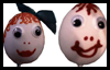 Easter Egg Heads Crafts Idea