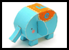Elephant Foldable Paper Toy Craft