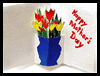 Pop-up Bouquet Mother's Day Card Craft Idea