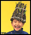 Stick Hats Nature Craft for Children