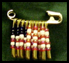 Flag Lapel Pin (Safety Pin Jewelry) Craft