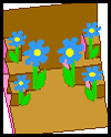 Pop-up Flower Garden Card Craft for kids