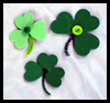 Foam Shamrocks Craft