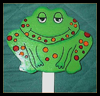 Froggy Plant Stake Arts and Crafts Activity for Children