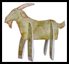Goat Toy Printable Paper Craft