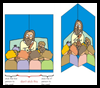 """Jesus Loves You"" Pop-Up Card Crafts Activity for Christian Kids"