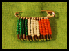 Beaded Safety Pin Craft for St. Patrick's Day Craft