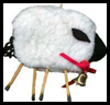 Fluffy Lamb Ornament Crafts Activity