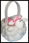 Cotton Ball Lamb Easter Basket Arts and Crafts Project Ideas
