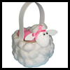 Cotton Ball Lamb Basket Crafts Project