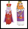 King TP Roll Crafts - 3 versions - Craft for Purim