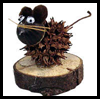 Sweet Gum Pod Mouse Nature Craft