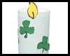 Shamrock Candle Craft for St. Patrick's Day