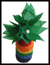St. Patrick's Day Tissue Paper Flowers and Juice Jar Vase Craft for Kids