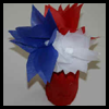 Fourth of July Tissue Paper Flowers and Juice Jar Vase