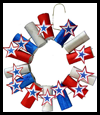 USA Patriotic Wreath 4th of July Craft