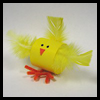 Paper Loop Chick Easter Craft