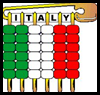 Pony Bead Flag of Italy Pin Craft