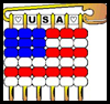 Pony Bead & Safety Pin Flag Pattern Craft