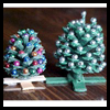 Miniature Pinecone Christmas Trees Craft for Kids