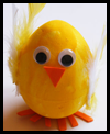 Polystyrene Egg Chick Arts & Crafts Easter Activity for Kids