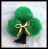 Pom Pom Shamrock Craft for Children