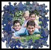 Recycled Puzzle Piece Photo Frame Craft for Kids