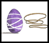 Rubber Band Eggs Craft for Kids