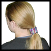 Safety Pin Pony Tail Holder Craft