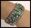 Bracelet Pattern Using Safety Pins, Beads, and Stretch Cord Craft