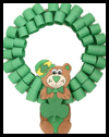 Bear St. Patrick's Day Wreath Craft for Kids
