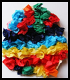 Scrunched Tissue Paper Egg Craft for Kids