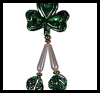 Shamrock Decoration Keyring Craft for Kids