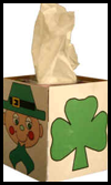 Easy Saint Patrick's Day Kleenex Box Cover Craft for Children