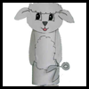Lamb Toilet Paper Roll Craft Idea
