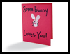 Thumb Bunny Mother's Day Card Crafts Idea