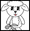 Lamb Paper Crafts Activity for Children